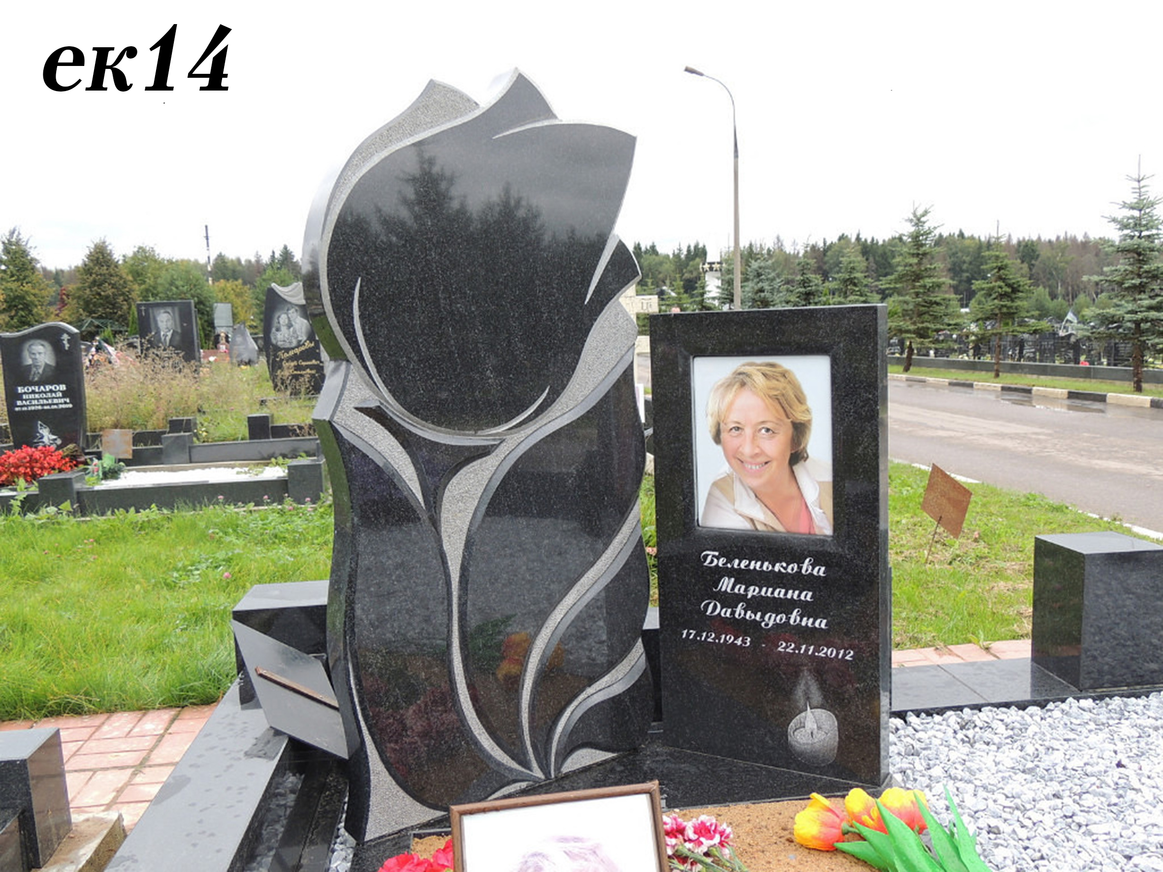 Цветы на памятники из гранита фото